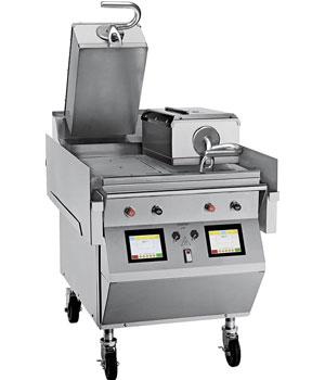 Modelo l820 plancha el ctrica de doble contacto 2 brazos for Plancha electrica para cocinar