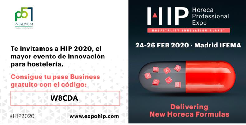 Proyecto 51 participa en la Feria HIP 2020